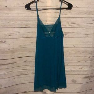 Victoria's Secret small Teal Babydoll nightgown